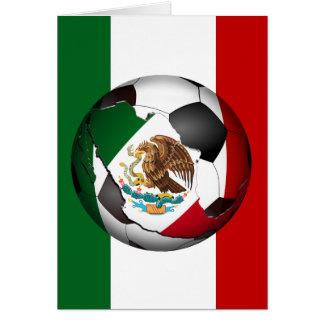 El balón de fútbol de México w/Flag colorea el Tarjeta De Felicitación