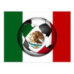 El balón de fútbol de México w/Flag colorea el Postal
