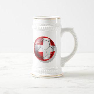 El balón de fútbol de Schweiz Suiza aviva los Jarra De Cerveza