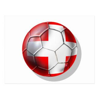El balón de fútbol de Schweiz Suiza aviva los Postal