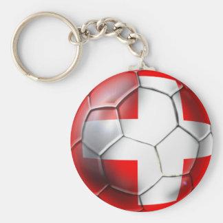 El balón de fútbol de Schweiz Suiza aviva los rega Llavero Redondo Tipo Pin