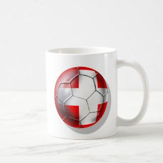 El balón de fútbol de Schweiz Suiza aviva los rega Tazas De Café