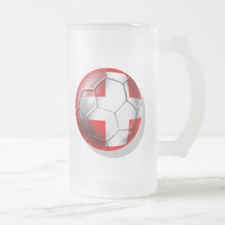 El balón de fútbol de Schweiz Suiza aviva los rega Taza De Café