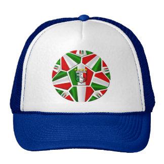 El balón de fútbol italiano moderno artesona los r gorra