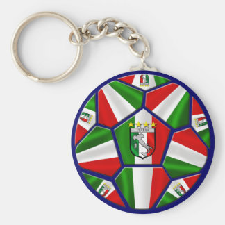 El balón de fútbol italiano moderno artesona los r llavero redondo tipo pin