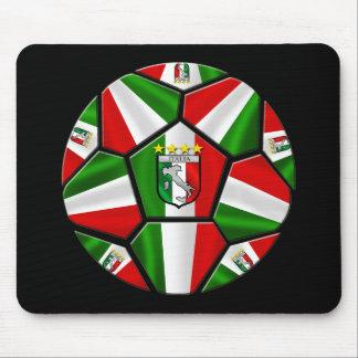 El balón de fútbol italiano moderno artesona los r tapetes de ratones