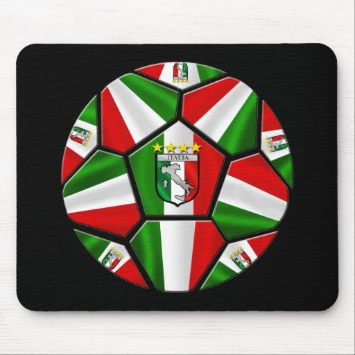 El balón de fútbol italiano moderno artesona los r tapete de raton