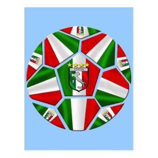El balón de fútbol italiano moderno artesona los r postales