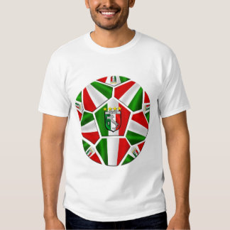 El balón de fútbol italiano moderno artesona los remera