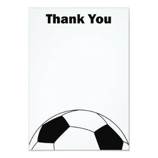 """El balón de fútbol le agradece las tarjetas de invitación 3.5"""" x 5"""""""