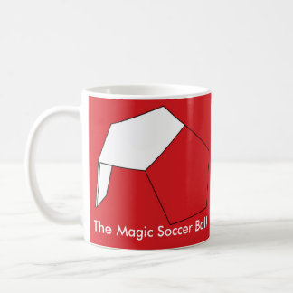 El balón de fútbol mágico tazas