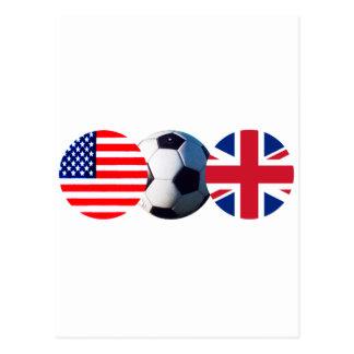 El balón de fútbol Reino Unido y los E.E.U.U. Postal