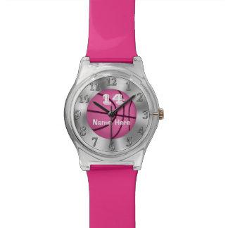 El baloncesto adaptable de los chicas mira el NOMB Relojes De Pulsera