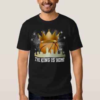 El baloncesto - Cleveland - el rey es hogar Playera
