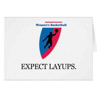 El baloncesto de las mujeres tarjeta