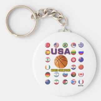 El baloncesto de los E.E.U.U. defiende 2010 Llavero Redondo Tipo Pin