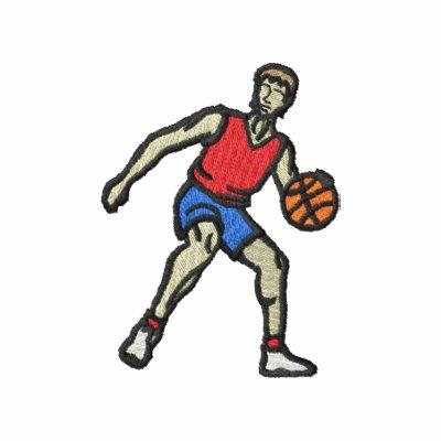El baloncesto de los hombres sudadera bordada