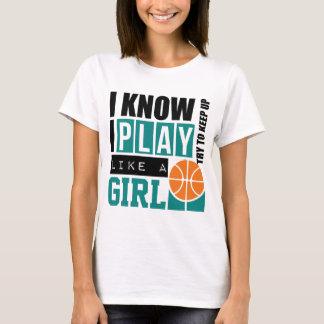El baloncesto del juego tiene gusto de un chica playera
