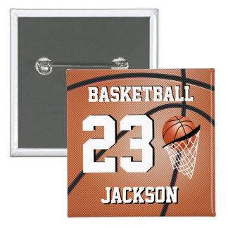 El baloncesto el | personaliza pin cuadrada 5 cm