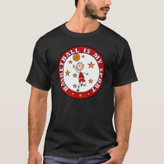 El baloncesto es mi camiseta del deporte