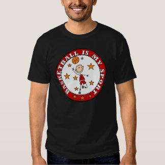 El baloncesto es mi camiseta del deporte playeras