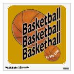 El baloncesto es mi etiqueta de la pared de la vid