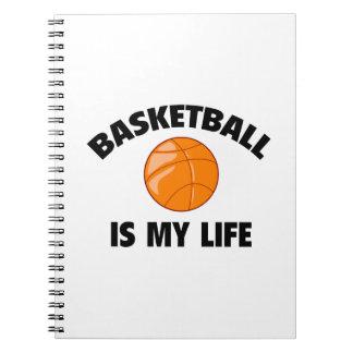 El baloncesto es mi vida libreta espiral