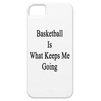 El baloncesto es qué me guarda el ir iPhone 5 Case-Mate protectores