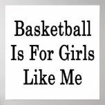 El baloncesto está para los chicas como mí impresiones