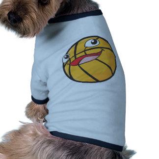 El baloncesto feliz se divierte la sonrisa de la b camisa de mascota