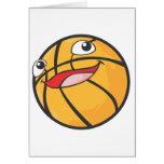 El baloncesto feliz se divierte la sonrisa de la b felicitaciones