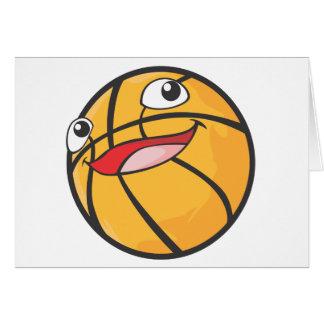 El baloncesto feliz se divierte la sonrisa de la b tarjeta