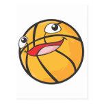 El baloncesto feliz se divierte la sonrisa de la b tarjeta postal