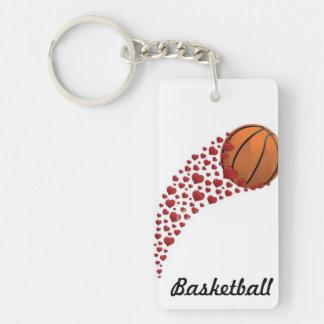 el baloncesto KE encadena Llavero Rectangular Acrílico A Doble Cara