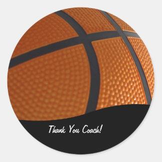 El baloncesto le agradece los pegatinas pegatina redonda