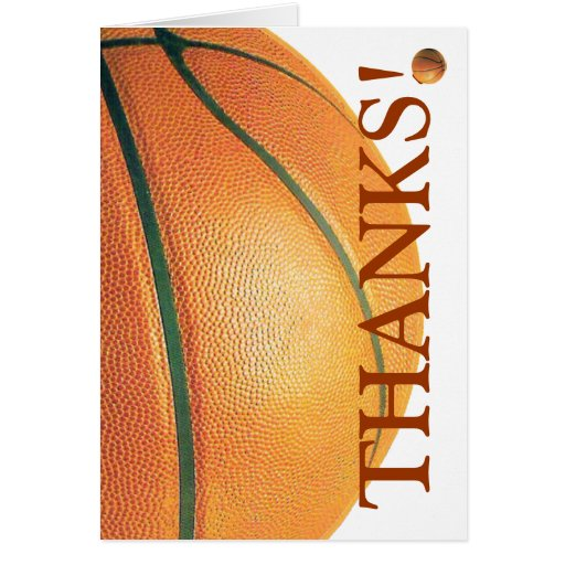 El baloncesto le agradece tarjeta pequeña
