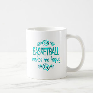 El baloncesto me hace feliz tazas