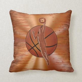 El baloncesto personalizado soporta NOMBRE y Cojín Decorativo