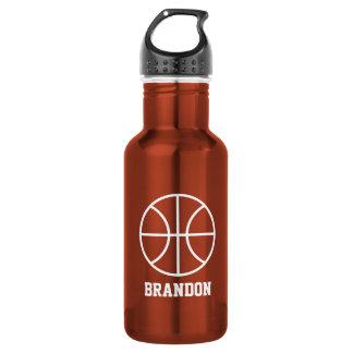 El baloncesto se divierte el acero de la botella