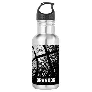El baloncesto se divierte el acero de las botellas