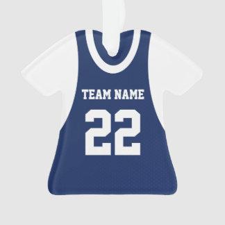 El baloncesto se divierte el azul del jersey con