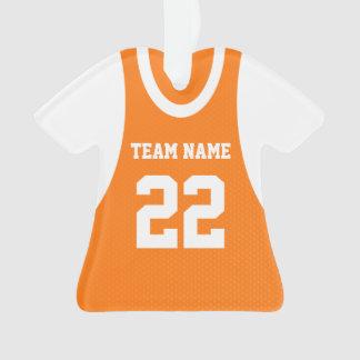 El baloncesto se divierte el naranja del jersey