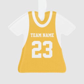 El baloncesto se divierte el oro del jersey
