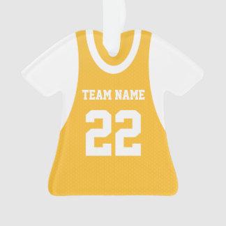 El baloncesto se divierte el oro del jersey con la