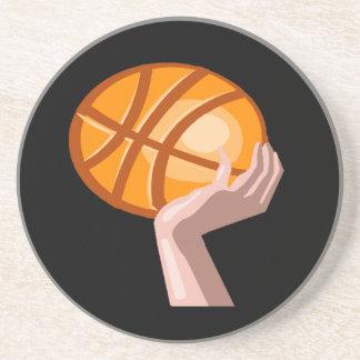 El baloncesto se divierte el práctico de costa de  posavasos manualidades
