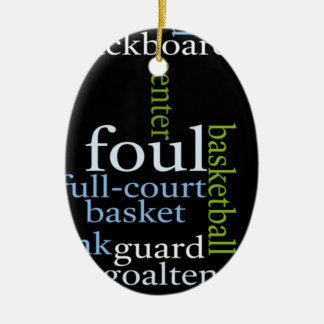 El baloncesto se divierte Fanatic.jpg Adorno Navideño Ovalado De Cerámica