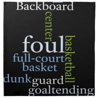 El baloncesto se divierte Fanatic jpg Servilleta Imprimida