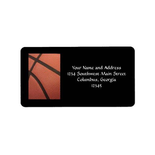 El baloncesto se divierte imagen etiquetas de dirección