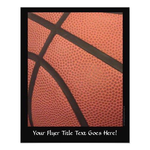 El baloncesto se divierte imagen flyer a todo color