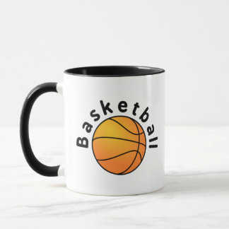 El baloncesto se divierte la bola y la fraseología taza
